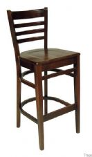 Devon Wooden High Stool in Walnut